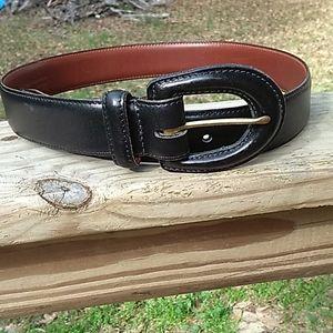 Coach Black Leather Belt